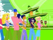 Jonesy, Caitlin, and the customers party