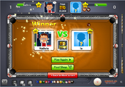 8 Ball Pool winning screen shot
