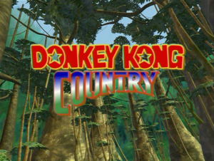 Donkey Kong Country Title Card