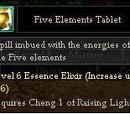 Five Elements Tablet