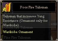 Poor Fire Talisman