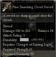 Fine Smashing Cloud Sword