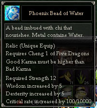 Phoenix Bead of Water