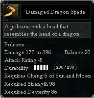 Damaged Dragon Spade