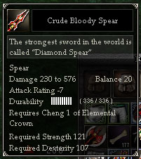 Crude Bloody Spear