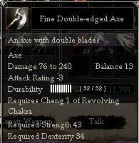 Fine Double-edged Axe