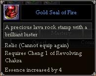 Gold Seal of Fire
