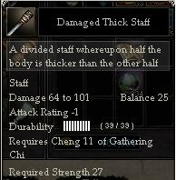 Damaged Thick Staff