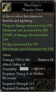 Wan Daye's Thunder Saber