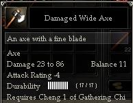 Damaged Wide Axe