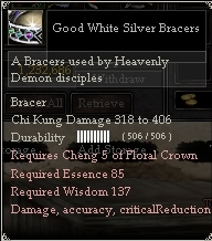 Good White Silver Bracers