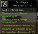 Wan Daye's Twin-hooked Saber