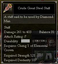 Crude Great Steel Staff
