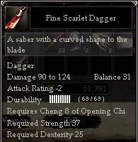 Fine Scarlet Dagger