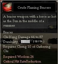 Crude Flaming Bracers