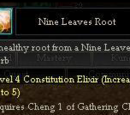 Nine Leaves Root