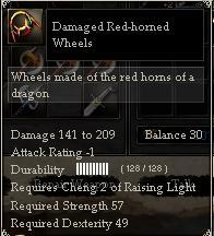 Damaged Red-horned Wheels