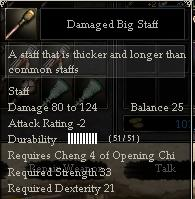 Damaged Big Staff