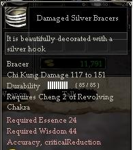 Damaged Silver Bracers