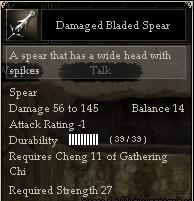 Damaged Bladed Spear