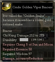 Crude Golden Viper Bracers