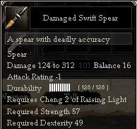 Damaged Swift Spear