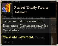 Perfect Ghastly Flower Talisman