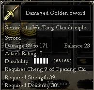 Damaged Golden Sword