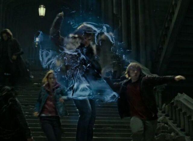 File:Harry casting the Shield Charm.jpg