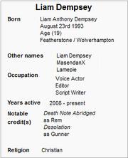 Liam dempsey