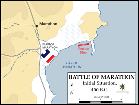 Battle of Marathon Initial Situation