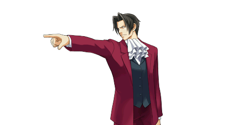File:PXZ2 Miles Edgeworth (full) - objecting.png
