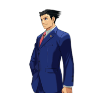 PXZ2 Phoenix Wright (full) - smiling (left)