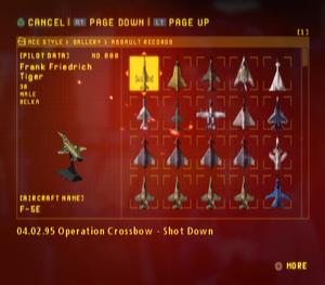 Ace Combat Zero Assault Records