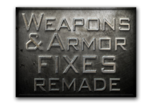 Wepons n armour fix's