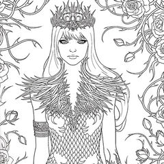 A Court Of Thorns And Roses Coloring Book A Court Of