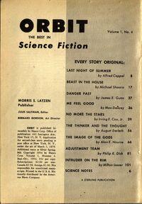 Orbit Science Fiction cover