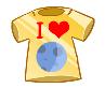 I Love Moon Badge