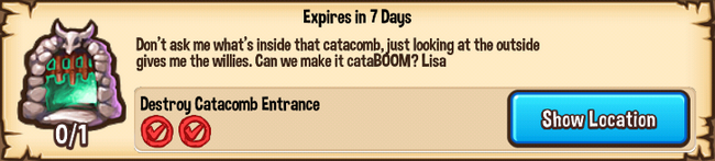 Fine toothed catacomb
