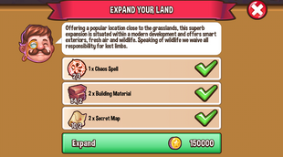 Land expansion grassland