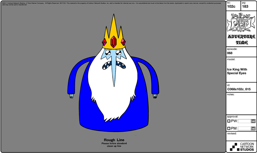 Adventure Time Character Design Sheets : Image modelsheet iceking withspecialeyes adventure