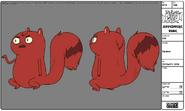 Modelsheet squirrel