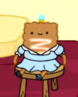 S6e14 Strudel Princess on stool
