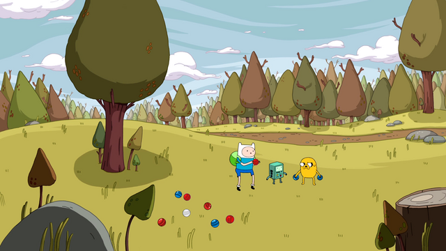 File:S4e12 Finn, Jake, and BMO playing bocce.png