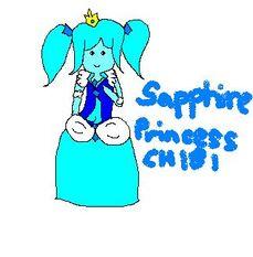 Sapphire Princess Fanart MS Paint (chibi)