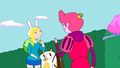 S3e9 Fionna and Cake meet Prince Gumball in the castle gardens.png