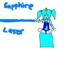 Sapphire Princess Fanart MS Paint (laser)