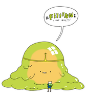 Slime Princess concept art by Wolfhard