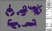 Modelsheet scorpion