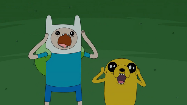 File:S4 E18 Finn and Jake freaking out.png